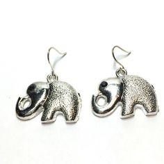 Elephant earrings Elephant ear rings Jewelry Earrings