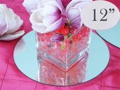 10pcs - 30cm Round Centerpiece Mirror
