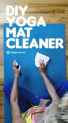How to Make a DIY Yoga Mat Cleaner Spray | yoga