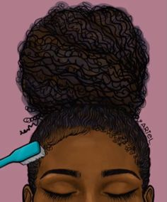 These Black History Month Gifs Perfectly Capture Our Hair Ex.-These Black History Month Gifs Perfectly Capture Our Hair Experience Giphy's Black History Month Tribute - Art Black Love, Black Girl Art, My Black Is Beautiful, Art Girl, Black Girl Magic, Natural Hair Art, Pelo Natural, Black History Month, Black Month