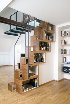 weird storage stairs
