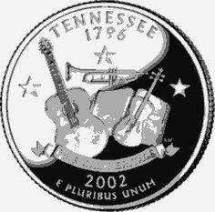 Learn about the Tennessee 50 State Quarter. Access Tennessee official state symbols with description and pictures. United States Mint, 50 States, State Quarters, Nation State, Commemorative Coins, Money Makers, Tennessee