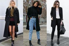 15 looks com sobretudo preto para se inspirar nos dias frios!