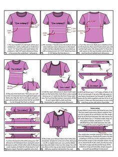 Choli from a t-shirt. Interesting...