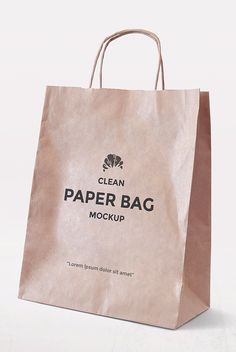 Free Simple Paper Bag Mockup | alienvalley.com | #free #photoshop #mockup