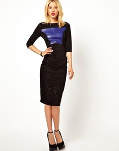 MADEMOD   Exclusive Bodycon Wiggle Dress With PU Panel  #modest #clothing #tznius #tzniut #mademod #dresses