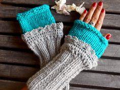 Fingerless Gloves, Crochet, Grey, Long Gloves, Winter Gloves, Long Knitted Gloves, Women gloves, Arm Warmers, Gift Ideas by YASEMINYASEMIN on Etsy