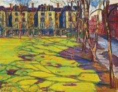 Frederick Gore (British, 1913–2009), March, Elm Park Gardens. Oil on canvas, 28 x 36 in.