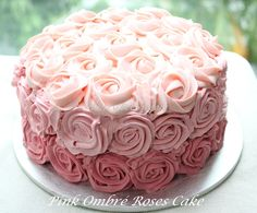 Honey Bee Sweets: Red Velvet & Light Cheese Cake with Pink Ombré Roses