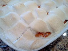 Keeping up with the Kitchen Mom: Old Fashioned Sweet Potato Casserole (Candied Yams) Yam Or Sweet Potato, Sweet Potato Casserole, Sweet Potato Recipes, Appetizer Recipes, Dessert Recipes, Appetizers, Yummy Recipes, Desserts, Recipies
