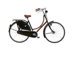 """Hermes Bicycle  Bicycle in lacquered stainless steel. Frame, handles and saddle in Taurillon Clemence leather. Kickstand, front and back lighting, carrier with bungy cord, mud flap and spoke protector. Size 50, fits most. 74.67""""L x 22""""W  Ref. 310211M01  $4,650.00"""
