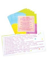 Napkin Trivia Baby Shower Game 24ct -Baby Shower Games -Baby Showers - Party City