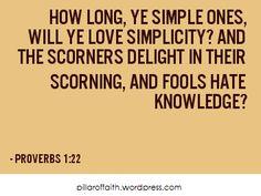 Proverbs 1 22
