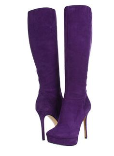 Crazy sexy shoes, fabulous high heels, from famous and upcoming designers! Purple High Heels, Purple Boots, Pretty Shoes, Cute Shoes, High Heel Boots, Shoes Heels Boots, All Things Purple, Sexy Boots, Purple