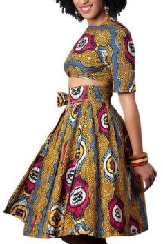 Amara Wrap ~African Prints, African women dresses, African fashion styles, African clothing, Nigerian style, Ghanaian fashion