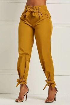 Ericdress Bowknot Plain Womens Pencil Pants We Offer Top Good Quality Cheap Clothes For Women And Men Clothing Wholesaler, Get Affordable Clothing At Worldwide. Fashion Pants, Look Fashion, Fashion Dresses, Womens Fashion, Fashion Tips, Women's Dresses, Ladies Fashion, Fashion Clothes, Fashion Trends