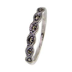 Natural Mercasite Stone Sterling Silver Women by jewelkingthai, $14.00