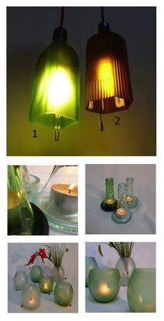 Unsere #Upcycling Sammlung ist um ein paar originelle Lampen und Windlichter aus recyclierten Apotheker- und Chianti-Flaschen reicher geworden. Nett: Die Werkstatt Gilgamesch aus #Basel liefert gleich die Anleitung zum Selbermachen dazu.