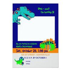 Penguin Golfing invitation Dinosaur Birthday Invitations, You Are Invited, Age, Unisex, Colored Envelopes, Envelope Liners, 3rd Birthday, Custom Invitations, Penguins