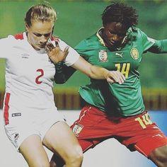 """#PostPic - Repost @lions_indomptables: #Cameroun 2-3 #Canada #U17WWC  Pour leur premier match de la Coupe du Monde Féminine U17 les #LionnesU17 se sont inclinées au stade Al Hassan d'Irbid. Les deux buts du Cameroun ont été marqués par la capitaine #SolineDjoubi (17') et #ClaudiaDadba (42'). #AllezLesLionnesU17"""""""