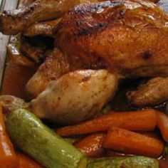 Shabbos Roast Chicken (Meat): Roast Chicken with Carrots and Zucchini