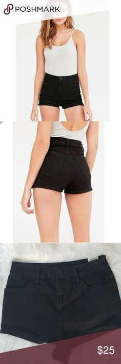 """Urban Outfitters BDG Super High Rise Short Short NWT! Urban Outfitters BDG Super High Rise Short Short. Modern high-waist denim Perfect for the summer!  13.5"""" Waist 1.5"""" Inseam 13"""" Front rise 80% Cotton, 19% Polyester,  1% Spandex Urban Outfitters Shorts"""