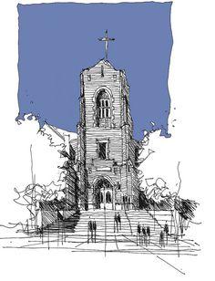 Presbyterian Church - Sapulpa Oklahoma by Sketchy-G