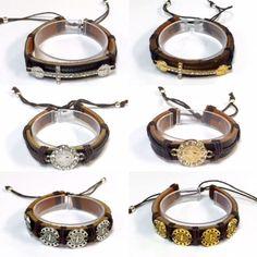 Pulseras de Piel Y Medallas O Cruz de San Benedito St Benedit Leather Bracelets