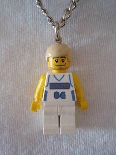 Looks like the team DJ! DJ Bedz! Custom LEGO NBA Basketball Team Denver Nuggets Necklace