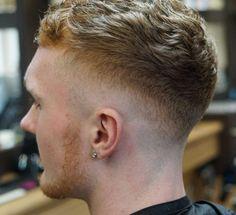 Wavy Haircut + Mid Fade