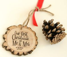 Newlyweds First Christmas Holiday Ornament - Wedding Gift - Couple's Frist Christmas - Gift Tag -Wedding Gift on Etsy, $13.99