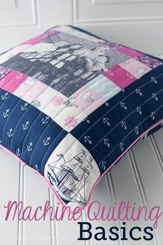 How to Quilt on a Sewing Machine, a Sewing Lesson from Polka Dot Chair #sewing #quilting