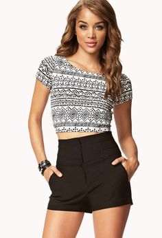 Banded High-Waisted Shorts