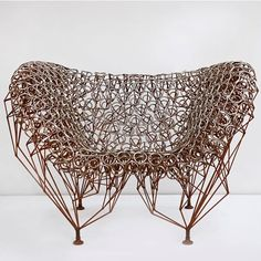 Chair in welded #stainlesssteel and #steel by #johnnyswing @nicholaskilner #anericandesigner