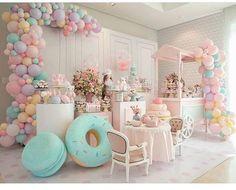 Candy Theme Birthday Party, Girl Birthday Decorations, Balloon Decorations Party, Candy Party, Baby Birthday, 1st Birthday Parties, Party Favors, Deco Baby Shower, Baby Shower Balloons