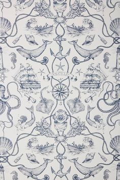 Some of the common kinds of wallpaper at this time is nautical wallpaper. When many individuals cons. Waves Wallpaper, Temporary Wallpaper, Print Wallpaper, Pattern Wallpaper, Bathroom Wallpaper, Nautical Wallpaper, Striped Wallpaper, Summer Wallpaper, Tatuagem Old Scholl