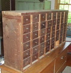 APOTHECARY CHEST...I've always wanted one of these