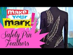 Embellish everything from clothing to pillows with these beautiful safety pin feathers!