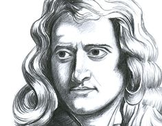 """Check out new work on my @Behance portfolio: """"Isaac Newton portrait 21x30cm"""" http://be.net/gallery/38856445/Isaac-Newton-portrait-21x30cm"""