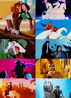 Anyone else ever wonder how many movies horses make some sort of appearance in Disney movies? If anything, rather than hanging out in the woods, I should be hanging out around horses. Disney Pixar, Arte Disney, Disney And Dreamworks, Disney Animation, Disney Magic, Disney Art, Disney Characters, Disney Cartoons, Disney Style