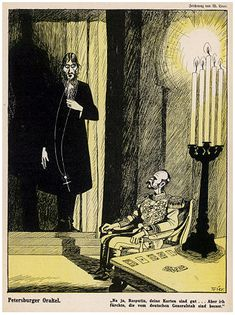 Grigori Rasputin Russian Mystic and Court Favourite Caricatured with Tsar Nicholas II . . .  —  Buy this art print at AllPosters.com