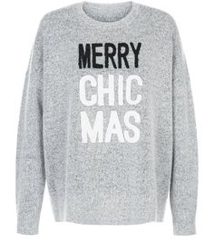 Pale Grey Merry Chic Mas Jumper | New Look