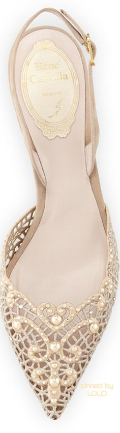 René Caovilla - Would be great for wearing at the reception