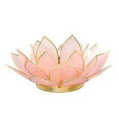 Gemstone Lotus TLight - Rose Quartz - Om Gallery