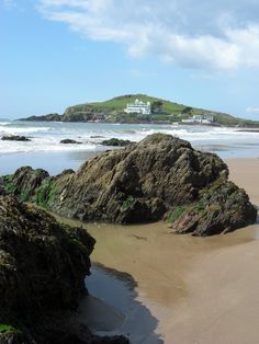 Bigbury Beach and Burgh Island, Devon by Soraya Freeman