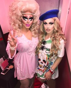 """6,438 Likes, 38 Comments - Aquaria (@ageofaquaria) on Instagram: """" such an amazing show last night from the hilarious @trixiemattel  catch us tonight performing…"""""""