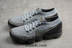 5bbc5bbf0600a Nike Air VaporMax 2018 Flyknit Gray Silver Women Men Sneakers For Sale