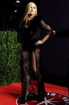 Madonna wearing Black lace