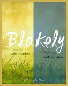Baby Girl or Boy Name: Blakely. Meaning: From the Pale Meadow or From the Dark Meadow. Origin: English; Scandinavian. https://www.pinterest.com/vintagedaydream/baby-names/