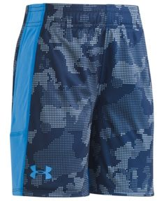 Under Armour Utility Camo Stunt Cotton Shorts, Toddler Boys (2T-5T) - Blue 3T
